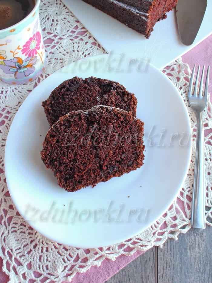Рецепт шоколадного кекса в духовке с какао