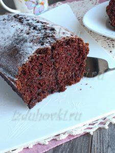 Шоколадный кекс в духовке простой рецепт фото