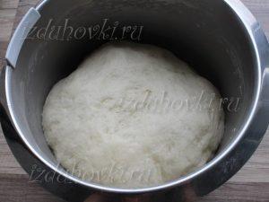 Тесто после подъема