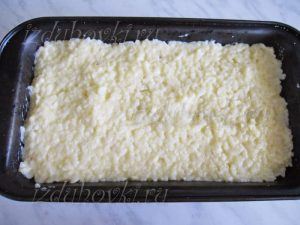 Запеканка с рисом в форме