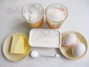 Ингредиенты для творожного теста