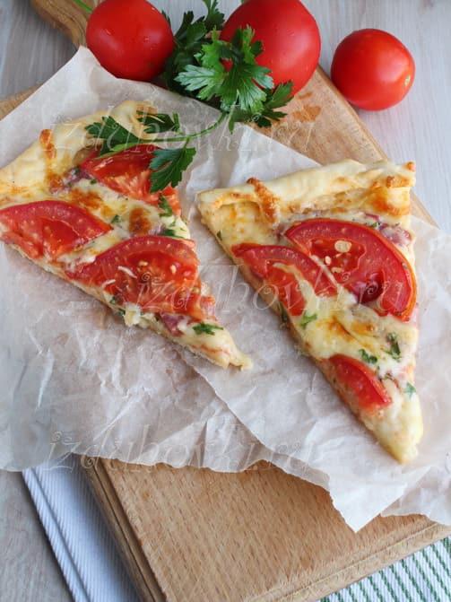 Пицца рецепт приготовления с колбасой и сыром