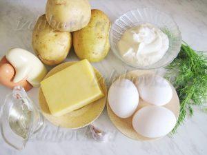 Ингредиенты для картофельной запеканки с сыром