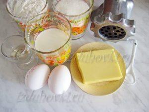Ингредиенты для печенья через мясорубку