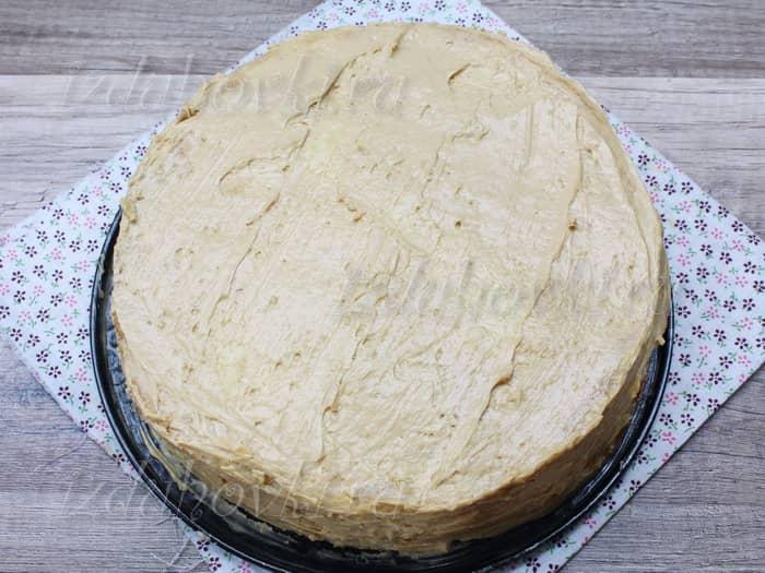 Торт наполеон с кремом из сгущенки с фото