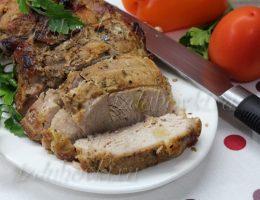 Буженина из свинины в духовке в рукаве