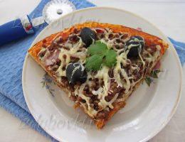 Рецепт пиццы с фаршем в домашних условиях