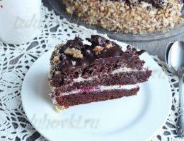 Шоколадный торт с вишней рецепт с фото